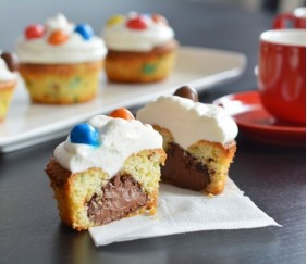Cupcakes m&m's coeur Nutella