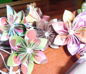 Une guirlande lumineuse Origami pour ma fille !