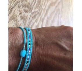 Bracelets Turquoise Argent Perles Miuyki