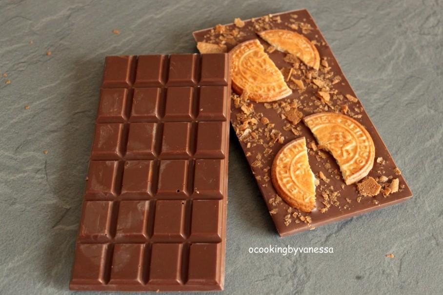 Tablette de chocolat au lait galettes st michel et for 1 tablette de chocolat
