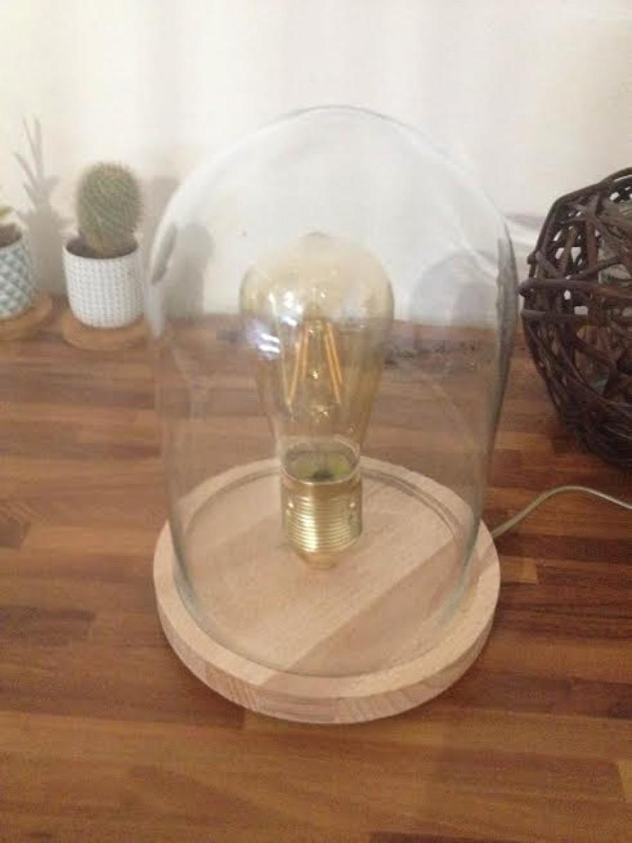 ma lampe sous cloche avec ampoule filament blog z dio. Black Bedroom Furniture Sets. Home Design Ideas