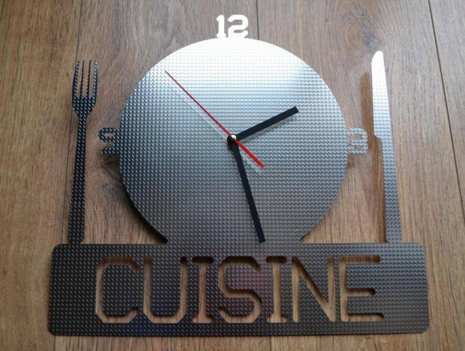 Horloge inox design cuisine blog z dio for Horloge zodio
