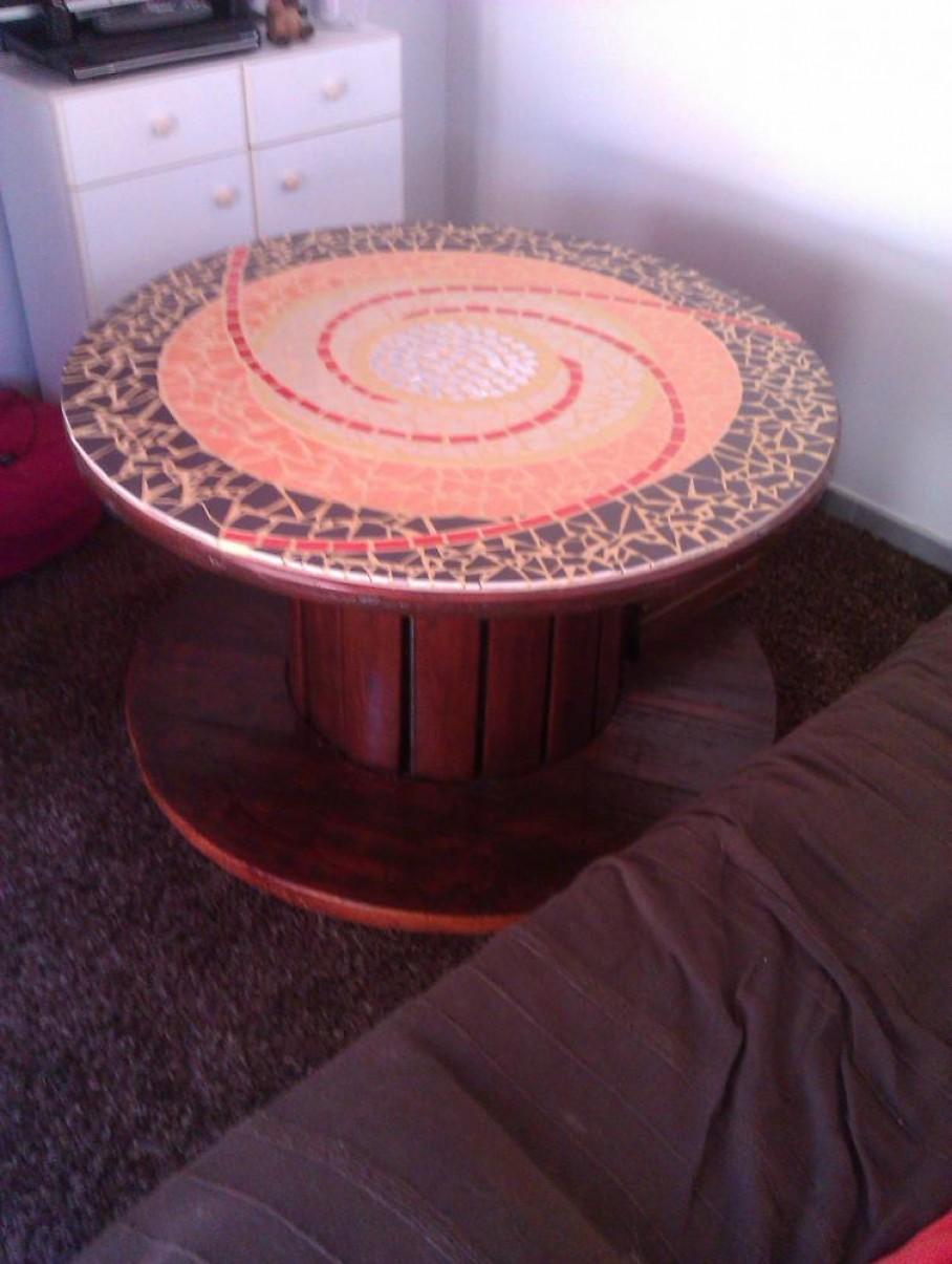 touret en guise de table basse blog z dio. Black Bedroom Furniture Sets. Home Design Ideas