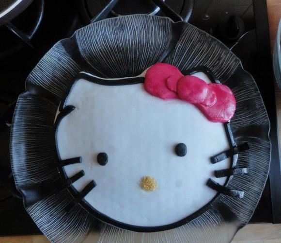 Mon gâteau hello kitty