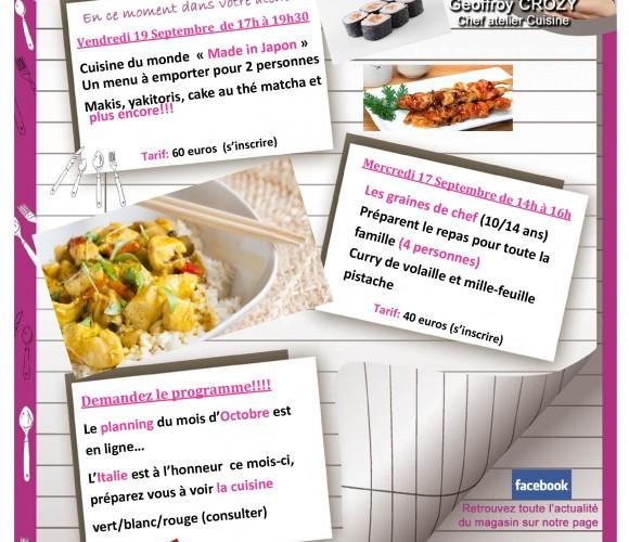 Dans votre Atelier cuisine la semaine prochaine!!!!
