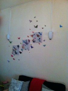 Décoration murale de papillons en origami (Blog Zôdio)