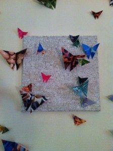 D coration murale de papillons en origami blog z dio for Deco murale zodio