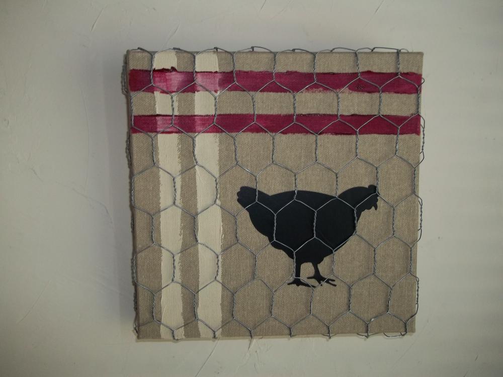 une poule sur un mur...