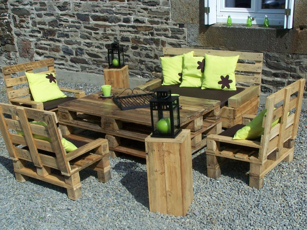 Salon de jardin en palette blog z dio - Les jardins au bout du monde outdoor furniture ...