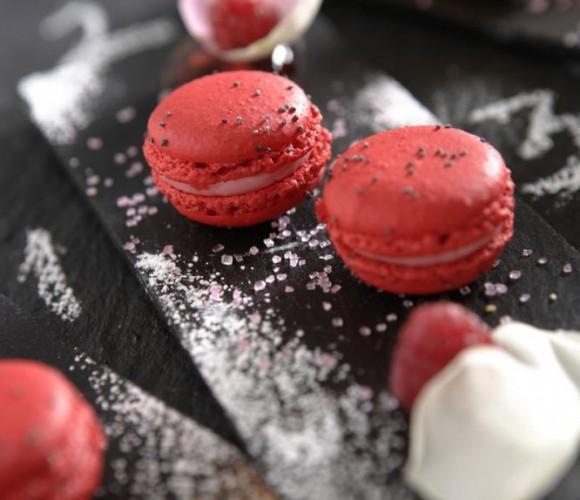 Recette Magazine : Macarons au sucre cuit et crème à la rose