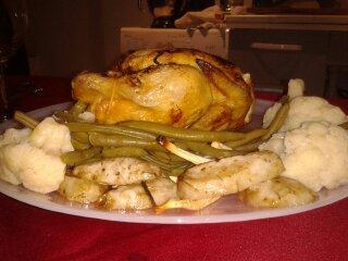 Poulet à la clémentine et ses petits légumes