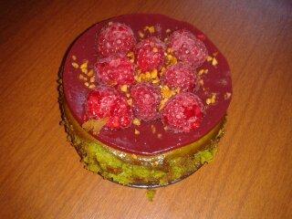 Cheesecake pistaches/framboises