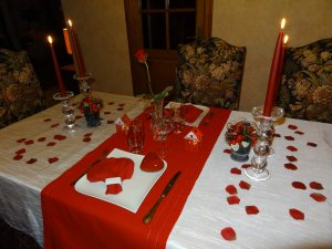 Ma table de la Saint Valentin 2013