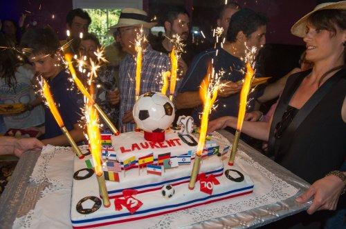 Gâteau d'anniversaire coupe du monde