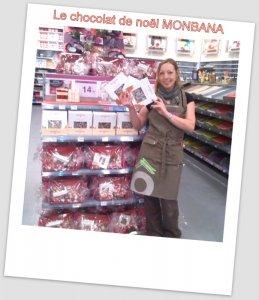 J'ai choisi pour toute la famille le chocolat de noël Monbana