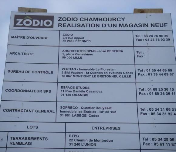 Zodio Chambourcy: Point Travaux !