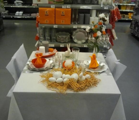 Cette année on ose le Orange pour la table de Pâques