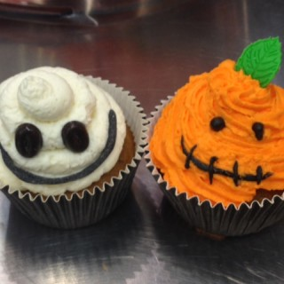Des cup cakes pour Halloween !!