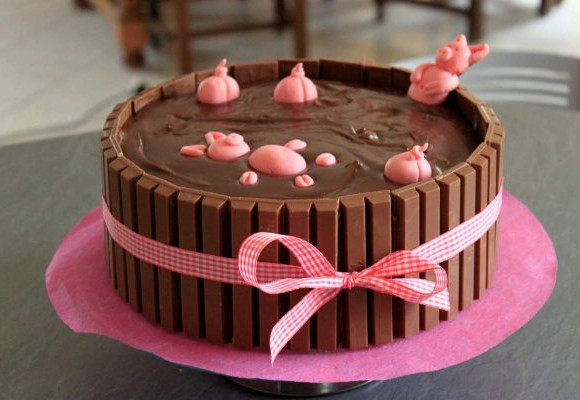 Bain de boue pour les cochons