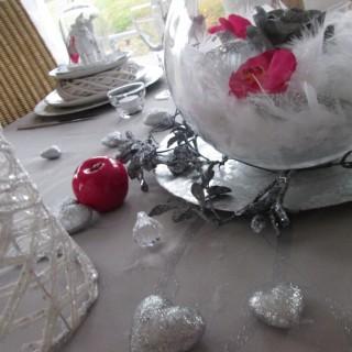 Fuchsia, blanc, argenté... de belles couleurs pour de bonnes fêtes de fin d'année!!