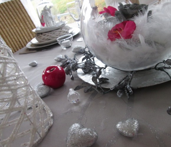 Fuchsia, blanc, argenté… de belles couleurs pour de bonnes fêtes de fin d'année!!