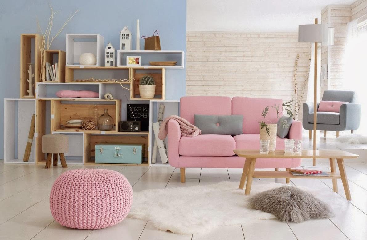 """Deco Salon Rose Poudré Et Gris pour une déco """"scandi-pastel"""" (blog zôdio)"""