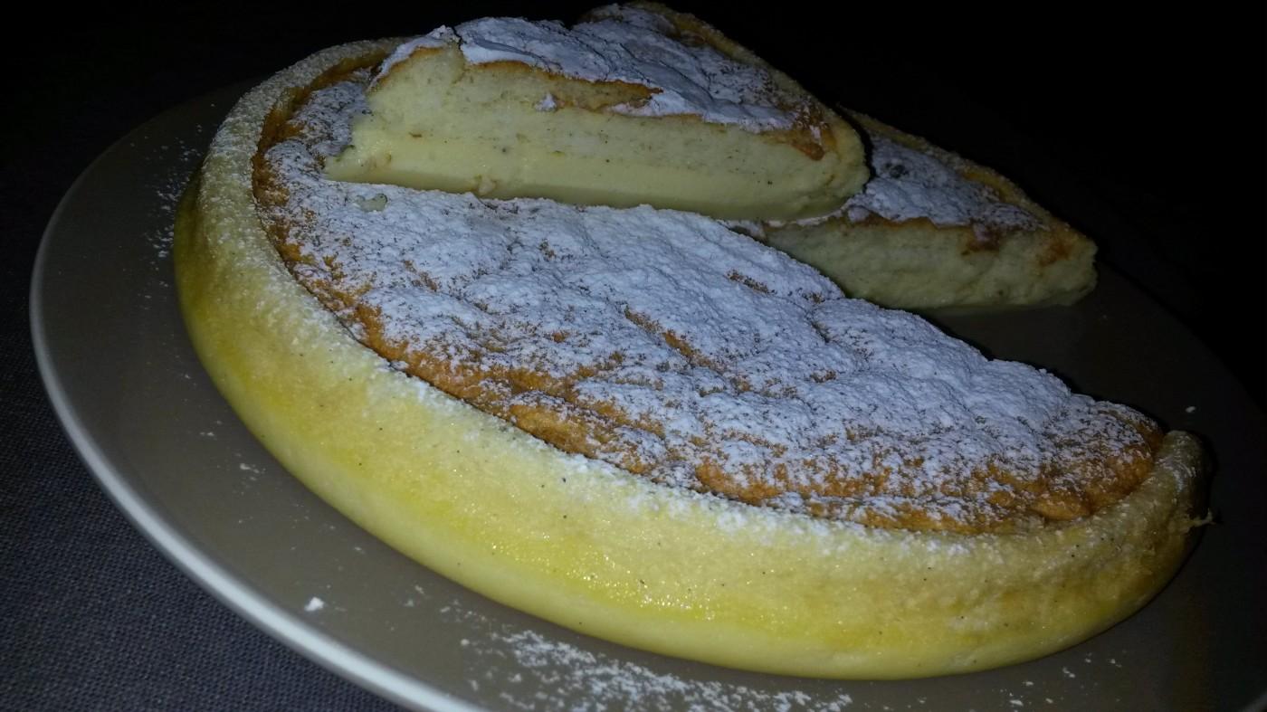 Un dessert : le Gâteau Magique à la Vanille
