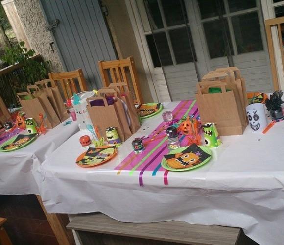 MA TABLE ANNIVERSAIRE HALLOWEEN