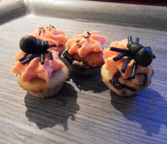 Mini-cupcake Myrtille Mygale Spécial Halloween