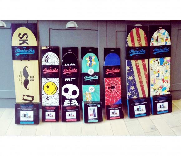 Détournons ensembles… des skate-boards en étagères et porte-manteaux !