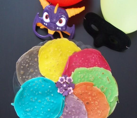 Crêpes multicolores pour carnaval école maternelle