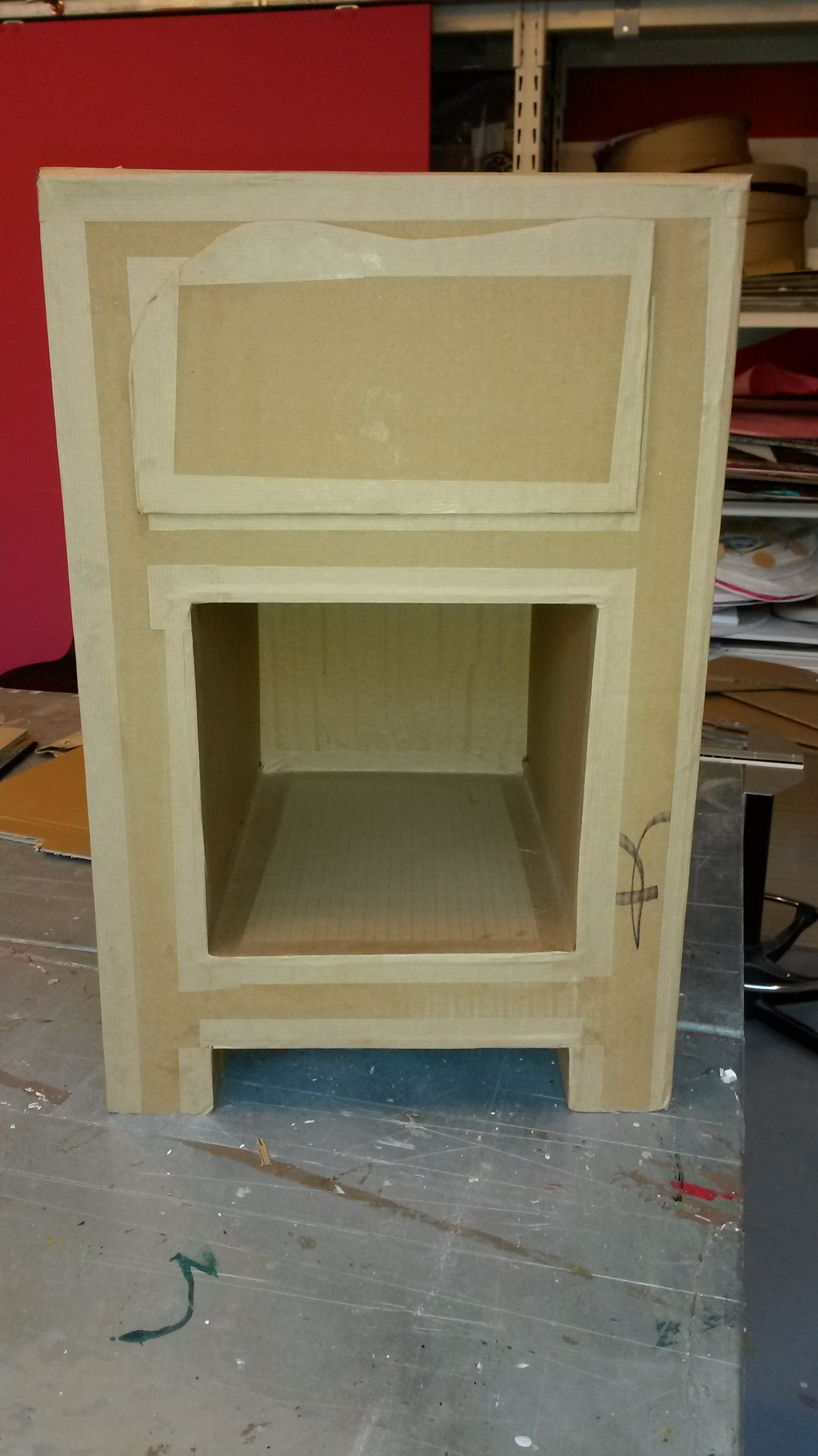 Diy le meuble en carton blog z dio for Meuble zodio