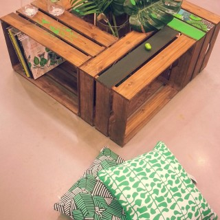 Une table basse en caisse en bois !