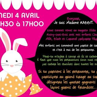 Les lapins de Pâques sont parmi nous mais saurez-vous les trouver ???