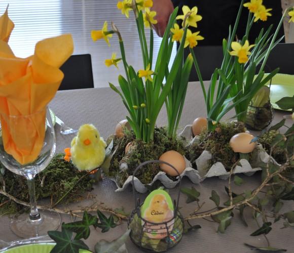 Ma table trés nature pour pâques !!!