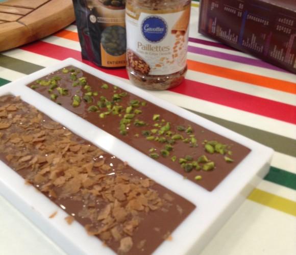 Je réalise mes tablettes de chocolat pour Pâques