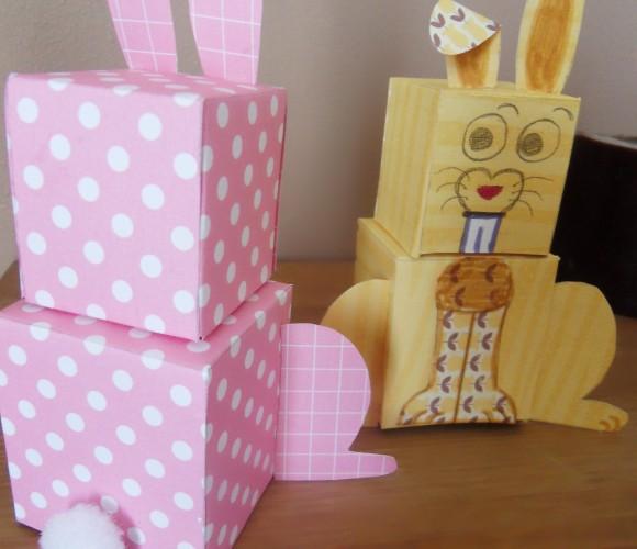 Déco de Pâques : Le Papertoy Lapin