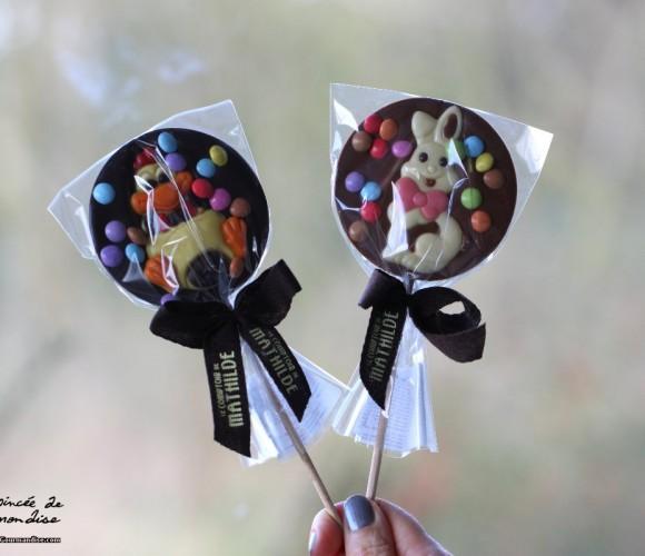 J'ai testé pour vous … les sucettes en chocolat le Comptoir de Mathilde