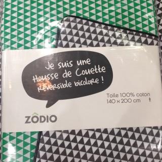 Housse de couette bicolore blog z dio - Mettre housse de couette ...