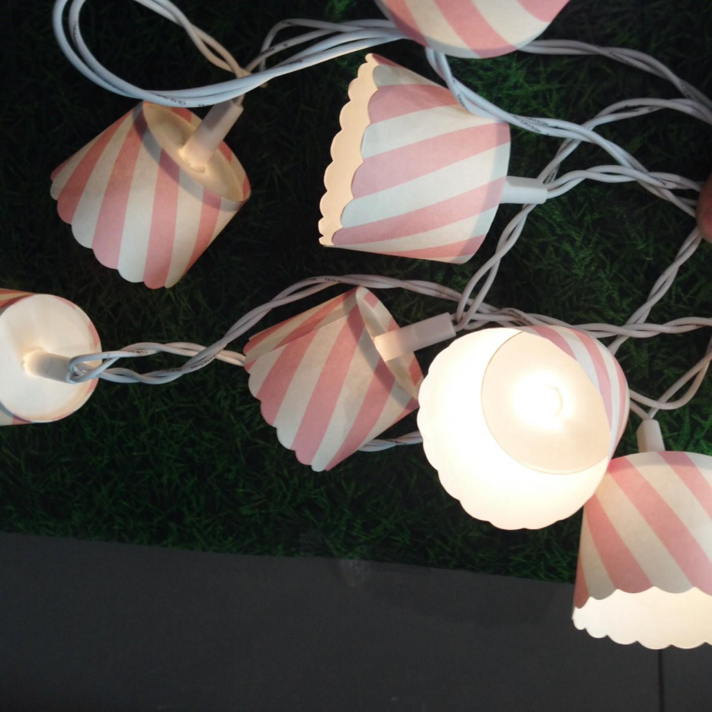 Détournons ensemble des caissettes à cupcake en déco pour guirlande lumineuse !