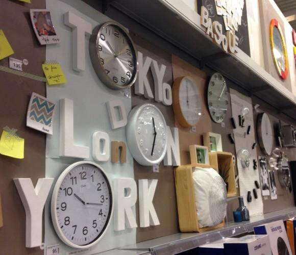 Venez découvrir notre nouveau mural horloge et déco du mur