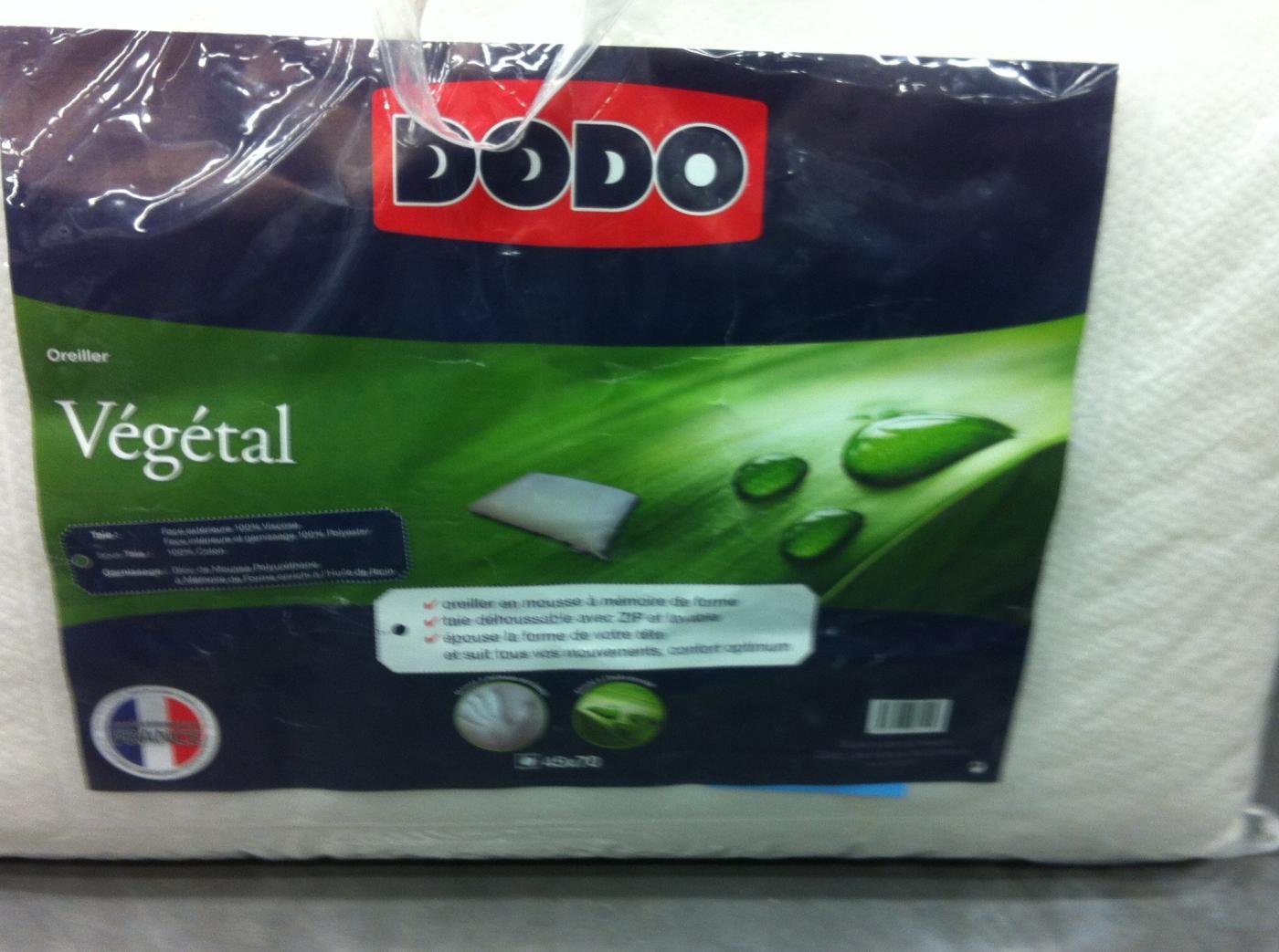J'ai testé pour vous l'oreiller Végétal de DODO 45x70
