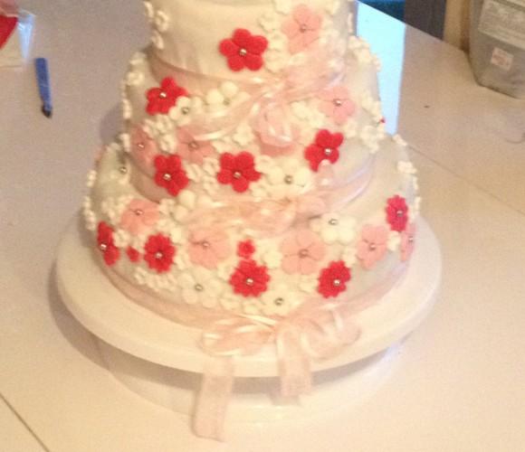 Gâteau de baptème fille
