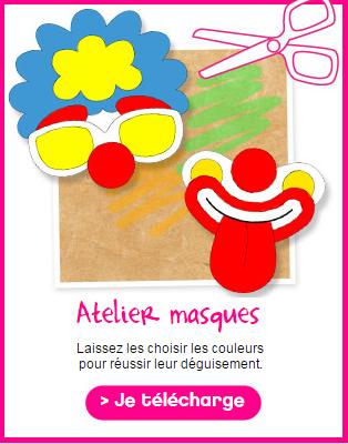 Masques à colorier et découper pour faire la fête !