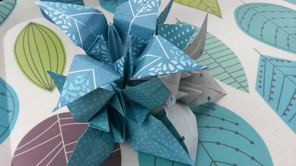 j'ai testé pour vous ...les ayame en origami !