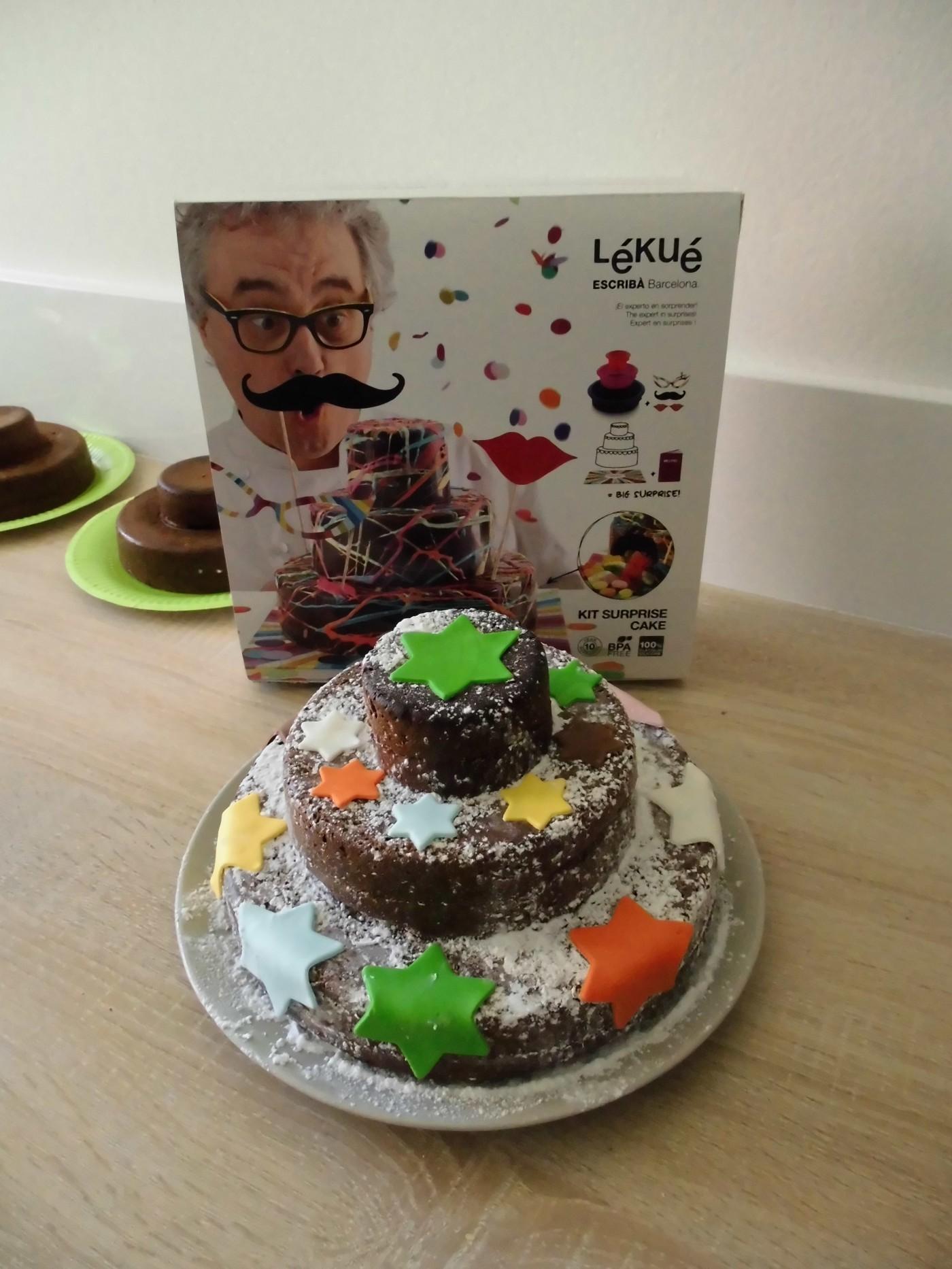 J'ai testé pour vous le kit gâteau surprise de chez lekué