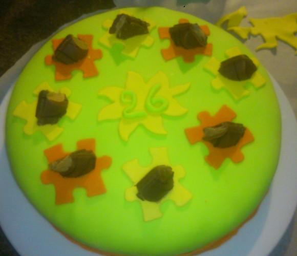 Gâteau anniversaire aux couleurs estivales !!