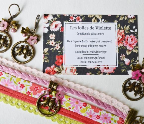 Les folies de Violette au marché créatif de Zôdio le samedi 13 juin