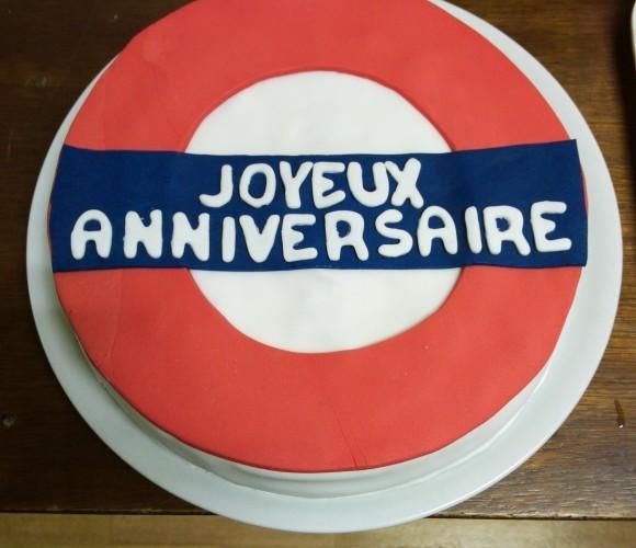 Design cake en panneau anglais