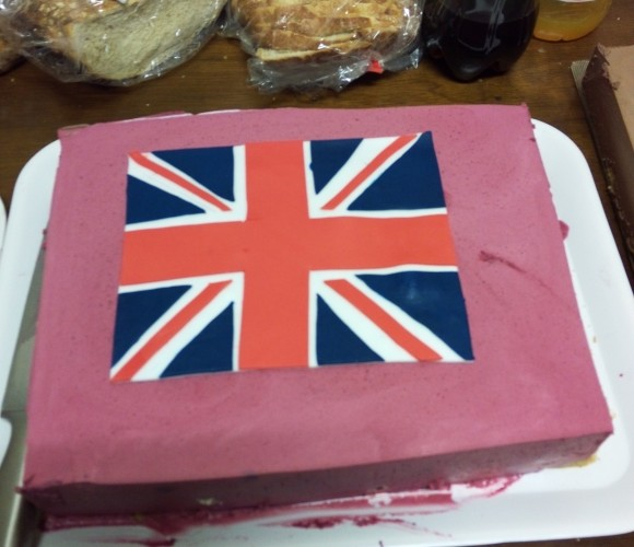 Bavarois drapeau anglais